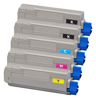 Alternativ OKI Toner C5850 C5950 MC560 5er Sparset