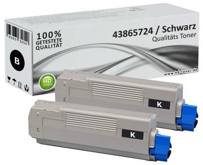 Alternativ OKI Toner C5850 C5950 MC560 Schwarz Doppelpack