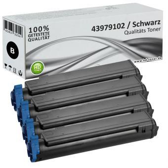 Set 4x Alternativ OKI Toner 43979102 Schwarz
