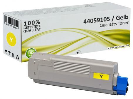 Alternativ OKI Toner 44059105 Yellow/Gelb