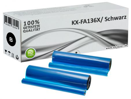 2x Alternativ Panasonic Thermo-Transfer-Rolle KX-FA136X
