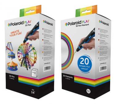 Polaroid Play 3D Set - Zeichenstift + 25 Filamente