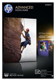 HP Fotopapier 13 x 18 / Q-8696A - glänzend - 250g - 25 Blatt