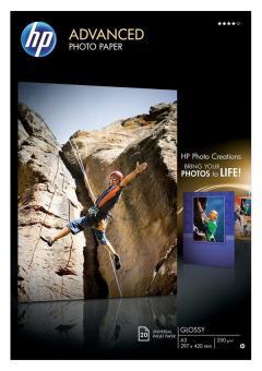 HP Fotopapier DIN A3 / Q-8697A - glänzend - 250g - 20 Blatt
