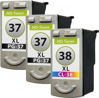 Set Patronen Canon 2x PG-37 + CL-38 XL Refill