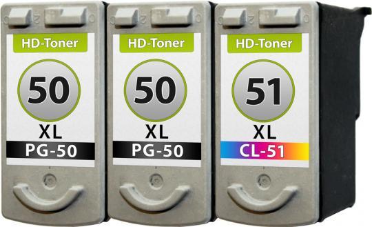 Set Patronen 2x PG-50 + CL-51 XL Refill