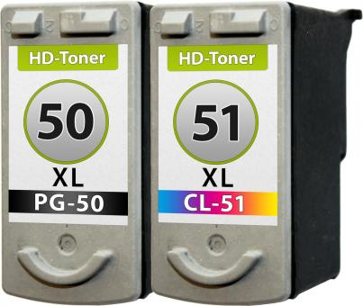 Set Patronen PG-50 + CL-51 XL Refill