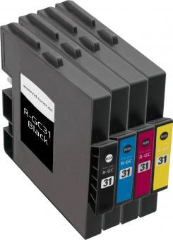 4x Alternativ Ricoh Patronen GC-31 Set Mehrfarbig