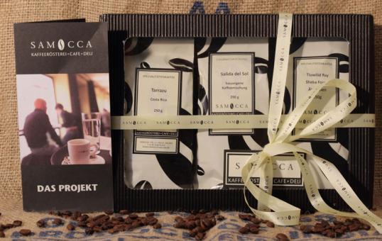Samocca Kaffee Premium-Box - kräftige Mischung