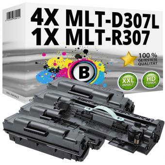 Alternativ Samsung Toner 4x D307L + R307 Trommel Schwarz