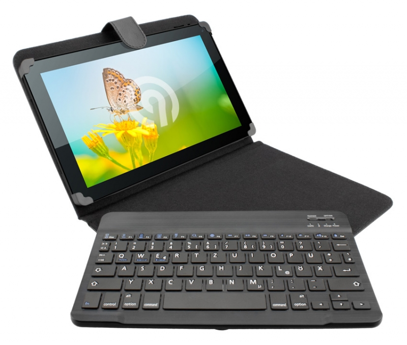 ninetec bluetooth keyboard case h lle tasche mit tastatur. Black Bedroom Furniture Sets. Home Design Ideas