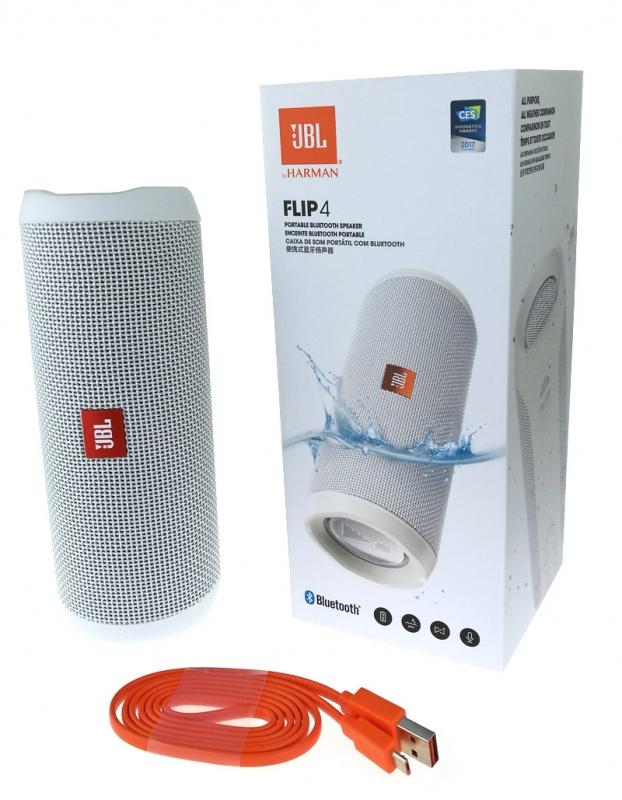 Jbl Flip 4 Bluetooth Lautsprecher Weiss Fur Technik Lautsprecher
