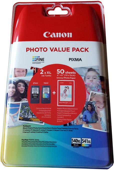 original canon pg540xl cl541xl tinte patronen pixma mg2150. Black Bedroom Furniture Sets. Home Design Ideas