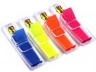 Post-it Haftstreifen Index Leuchtfarben, 4 Spender mit je 35 Streifen im Etui