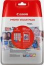 4x Original Canon Patronen im Set CLI-571 XL + Fotopapier