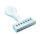 Wedo Stempel Text Gebucht - Abdruck 45 mm