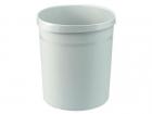 HAN Papierkorb GRIP, 18 Liter, rund, 2 Griffmulden, extra stabil, lichtgrau