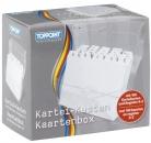 Toppoint® Karteikasten Plastik -DIN A7, transparent