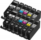 12x Alternativ Druckerpatronen mit Chip Canon PGI 525bk CLI 526
