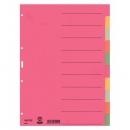 Leitz 4359 Register - Karton, blanko, A4, 10 Blatt, farbig