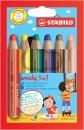 Stabilo Multitalent-Stift woody 3in1 6 Stifte