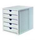 HAN Schubladenbox SYSTEMBOX, 5 geschlossene Schubladen, lichtgrau