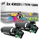 2x Alternativ Ricoh Toner 430351 / Type 1260D Schwarz