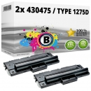 2x Alternativ Ricoh Toner 430475 / Type 1275D Schwarz