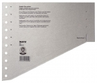 Leitz 1651 Staffel-Trennblätter - A4 Überbreite, grau, 100 Stück
