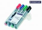Staedtler® Flipchart-Marker Lumocolor® 356, nachfüllbar, 2 mm, STAEDTLER Box mit 4 Farben