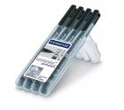 Staedtler Feinschreiber Lumocolor 4x Schwarz 0,4-0,6-1,0-2,5mm