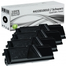 4x Alternativ Utax Toner 4422810010 Schwarz
