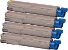 4x Original XL Oki Toner C3300 C3400 C3450 C3600