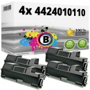 4x Alternativ Utax Toner 4424010110 Schwarz