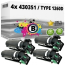 4x Alternativ Ricoh Toner 430351 / Type 1260D Schwarz
