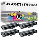 4x Alternativ Ricoh Toner 430475 / Type 1275D Schwarz