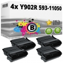 4x Alternativ Toner Dell Y902R 593-11050 Schwarz