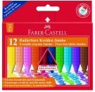 Faber-Castell Radierbare Kreide JUMBO, 12 Kreiden farbig