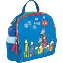 Kindergartenrucksack inkl. Sitzkissen Mini Kids Club, blau