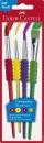 Faber-Castell Schulpinselset - 4 Stück, 10; 2; 6; 12