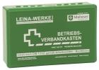 Betriebsverbandkasten klein - mit Wandhalterung - grün