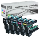 Alternativ Konica Toner QMS 5430 5440 5450 5er Set