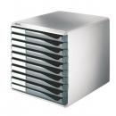 Leitz 5281 Schubladenset Formular-Set, 10 geschlossene Schubladen