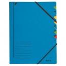 Leitz 3907 Ordnungsmappe, 7 Fächer, Colorspankarton, blau