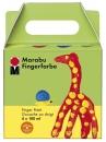 Marabu Fingerfarbe, 4er-Set, 4 x 100 ml