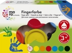 Marabu mara Fingerfarbe, 6er-Sortierung, 6 x 35 ml