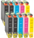 10 Alternativ Epson Patronen T0611 T0612 T0613 T0614