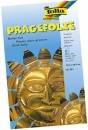 Prägefolie Mappe - 19 x 30 cm, gold, 3 Blatt