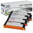 4x Alternativ Xerox Toner 6180 Mehrfarbig Set