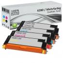 4x Alternativ Xerox Toner 6280 Mehrfarbig Set